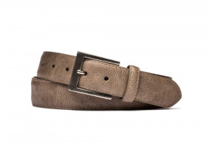 Mushroom Outlaw Calf Belt with Antique Nickel Buckle