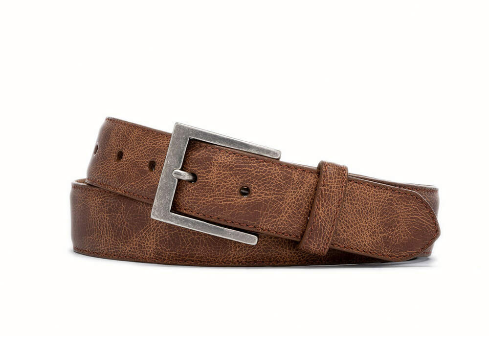 Whiskey Outlaw Calf Belt with Antique Nickel Buckle