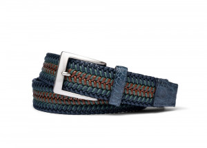 Montana Stretch Belt with Croc Tabs and Brushed Nickel Buckle