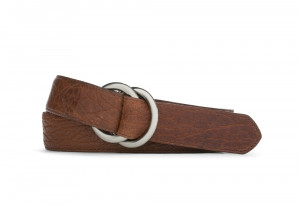 Peanut American Bison Belt with Oring Buckles