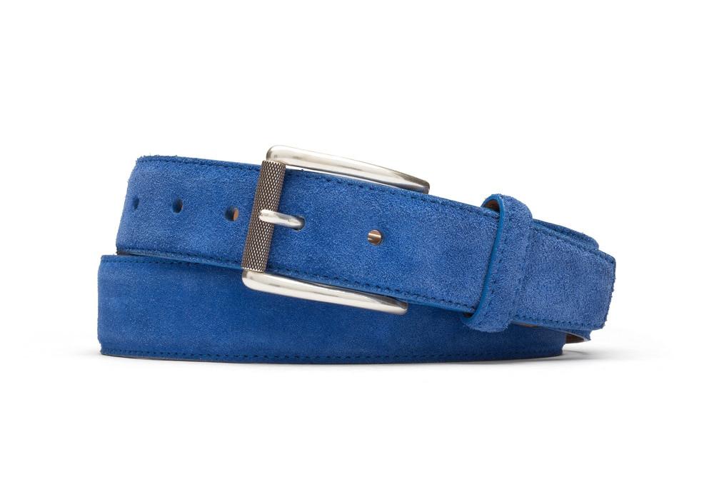 Royal Suede Belt with Nickel Roller Buckle