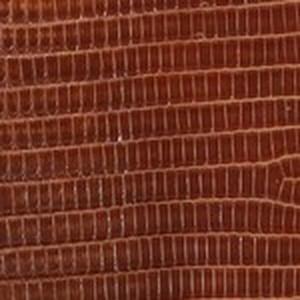 Cognac Classic Lizard Belt with Nickel Buckle