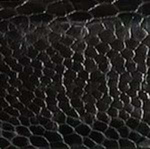 Black Ostrich Leg Belt with Nickel Buckle