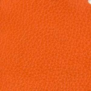 Orange Pebbled Calf Belt with Nickel Buckle