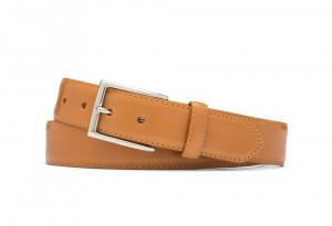 Veg Glazed Calf Belt with Nickel Buckle