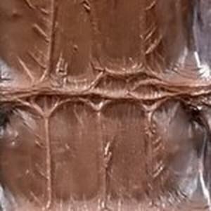 Cigar Hornback Alligator Belt with Brushed Nickel Buckle