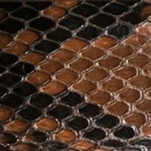 Glazed Cognac Diamond Python Belt with Brushed Nickel Buckle