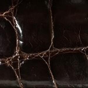 Chocolate Glazed American Alligator Belt with Nickel Buckle
