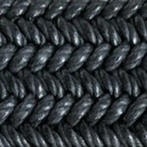 Black Solid Stretch Belt with Crocodile Tabs