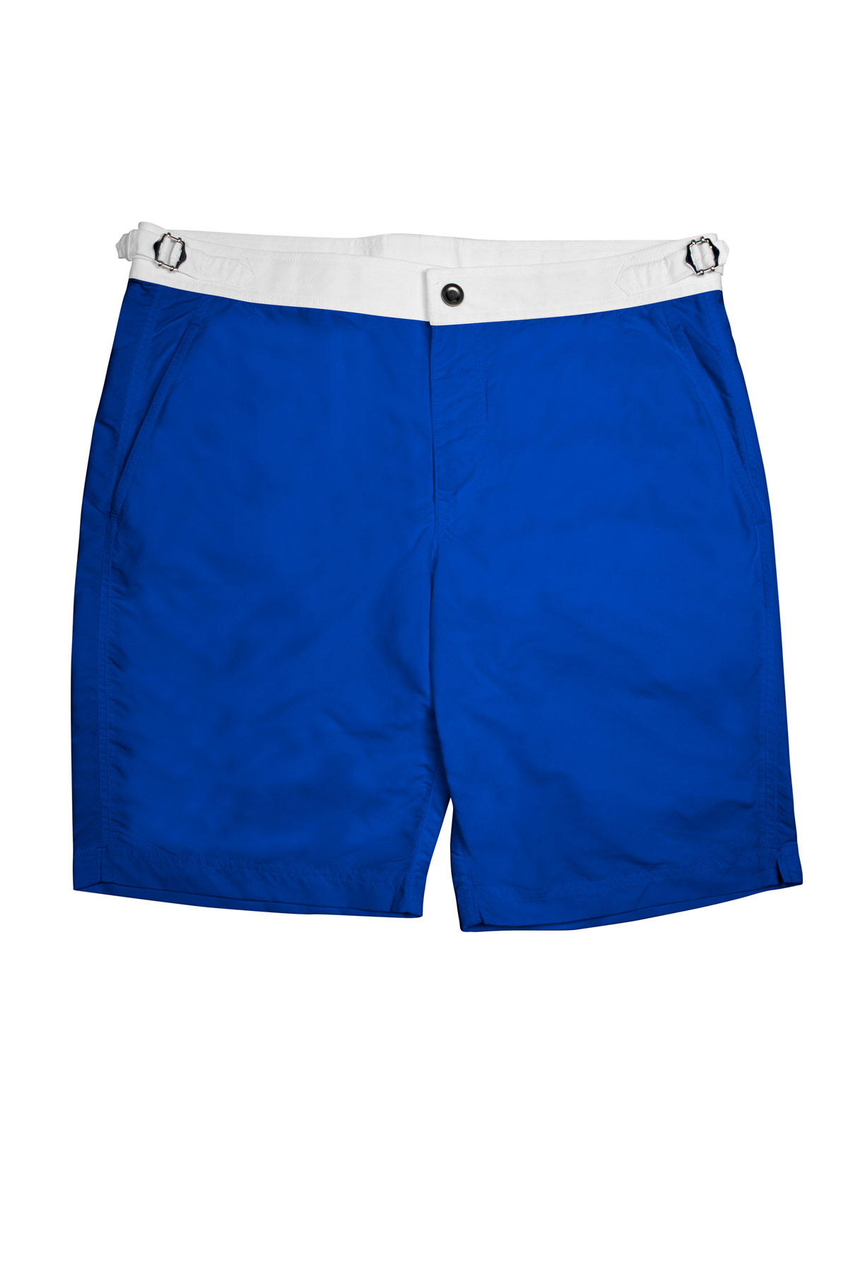 Royal Blue Swim Shorts w White Waistband