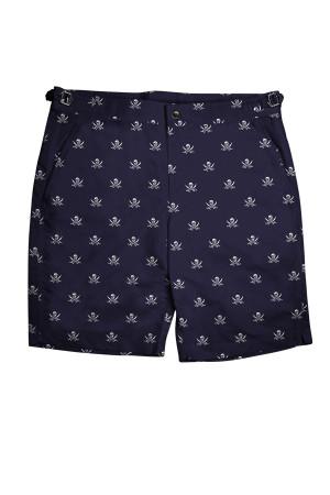 Navy Jolly Roger Swim Swim Shorts