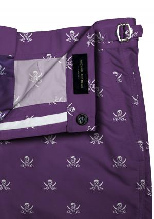 Purple Jolly Roger Swim Swim Shorts