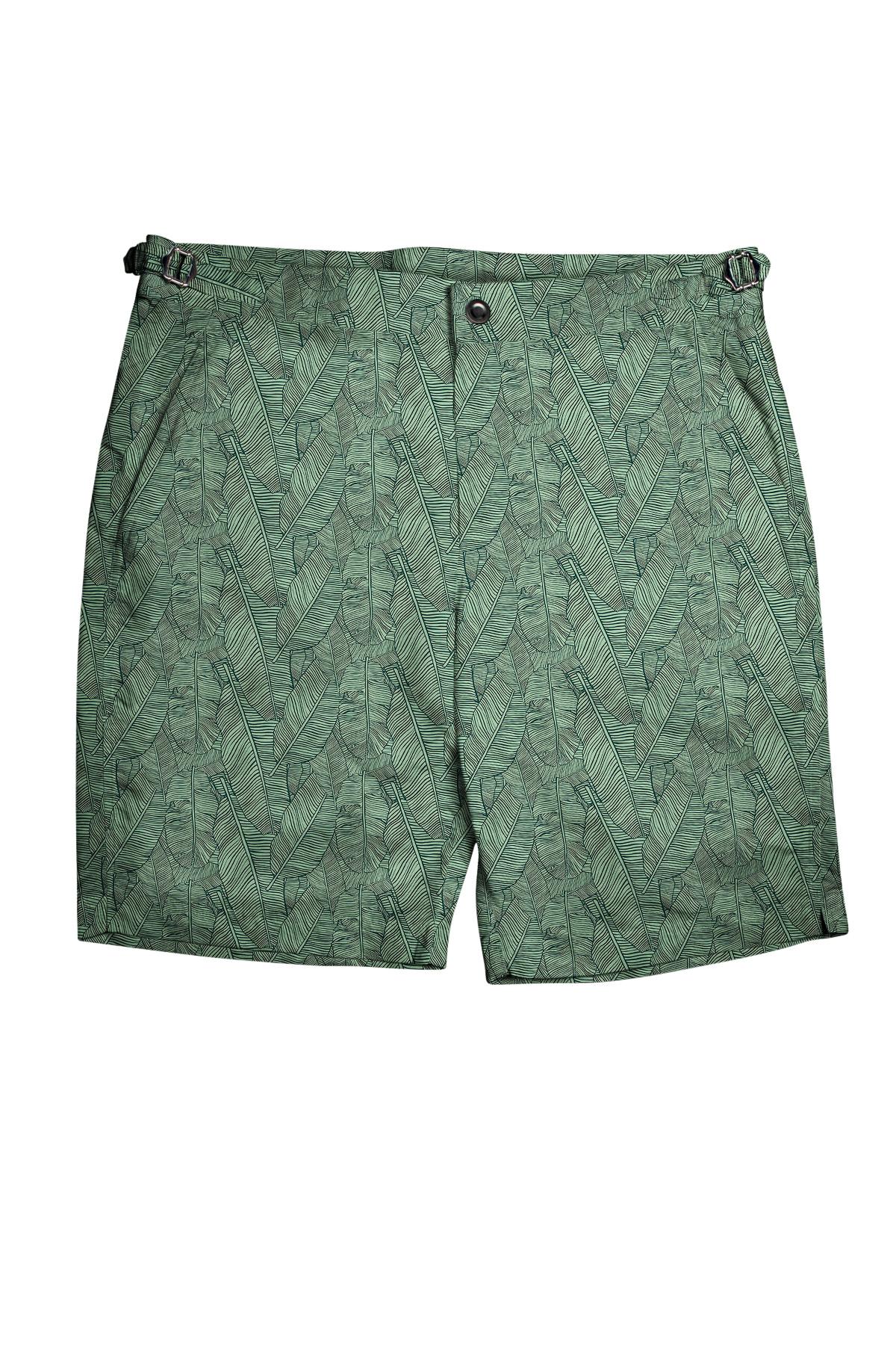 Green Palm Leaves Swim Shorts
