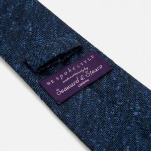 """Gentleman's Solid"" Blue Wool/Silk Tie"